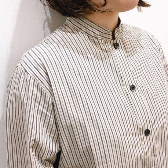 SARAHWEAR - Stripe マオカラーシャツ(C52732)