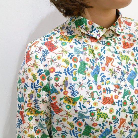 J.sloane - プチカラー前タックシャツ(リバティコレクション)