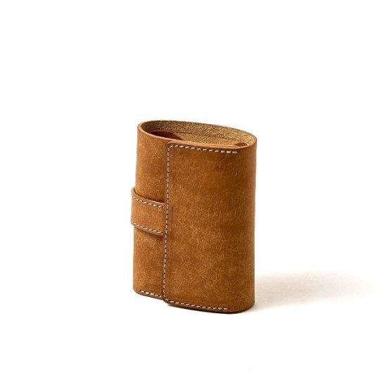 プエブロ 三つ折りコンパクト財布 / キャメル