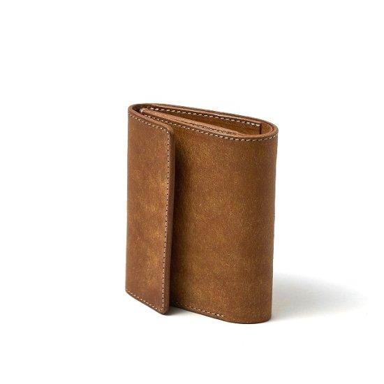 プエブロ 二つ折り財布 / キャメル (左利き用)