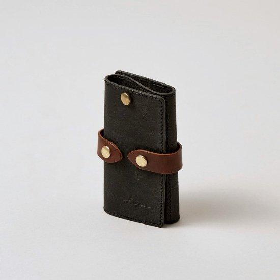 プエブロ カードポケット付きスマートキーケース / ブラック