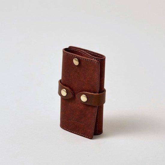 プエブロ カードポケット付きスマートキーケース / ブリックレッド