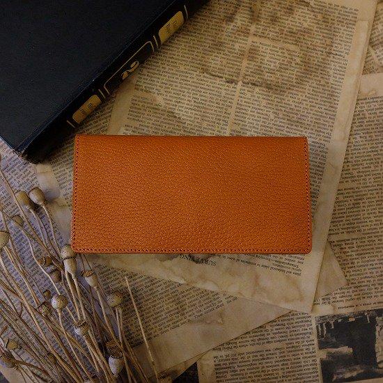 【アウトレット】ドラーロ ビルケース(コンビカラー長札入れ)/ オレンジ #019パーツの色ブレ