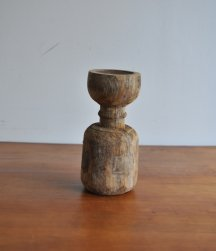 Wood candle stand