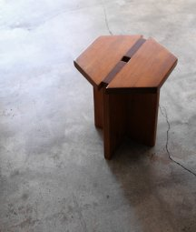 solid pine stool