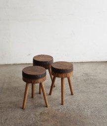 oak log seat stool