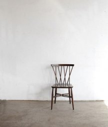 ERCOL Xback chair<br>(bell shaped seat/ dark)[AY]