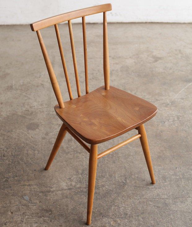 ERCOL stickback chair / low