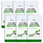 イチョウ葉+DHA+EPA粒 約1か月分×6袋 T-600-6