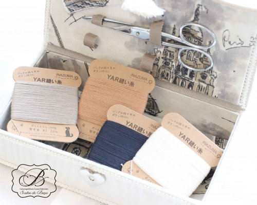 持ち手縫糸 ホワイト/ネイビー/アイボリー/ベージュ/ブラック
