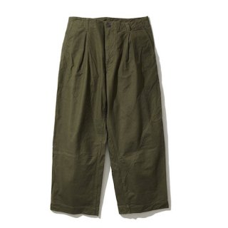 【KUON】<br>Military Tent CLOTH Wide Pants