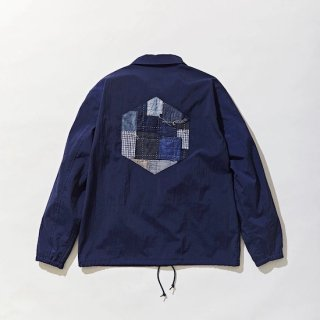 【KUON】<br>SALT SHRUNK NYLON Coaches Jacket