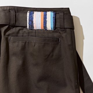 【KUON】<br>Belted CHINO Pants