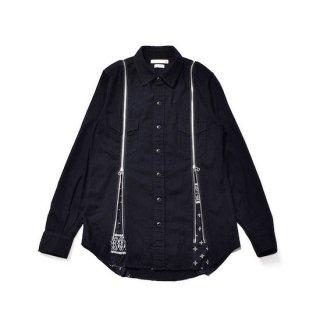 【MINEDENIM】<br>×OLD PARK Bandana Zip Denim Shirt