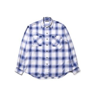 【MINEDENIM】<br>×CDL Rayon Ombre Check Shirt