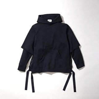 【KUON】<br>FRENCH TERRY Layered Hoodie