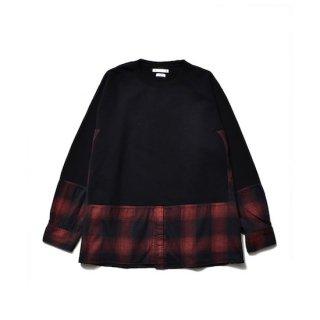 【MINEDENIM】<br>×OLD PARK Denim Shirt Crew neck Sweat