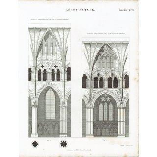 アンティークプリント リンカン大聖堂