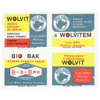 チェコのマッチラベル(未裁断)WOLF-KRAFT