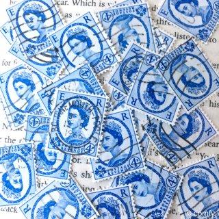 イギリスの使用済み切手 BLUE&WHITE 10枚セット