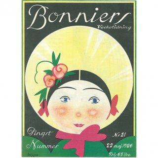 スウェーデンの古い雑誌表紙(アンティークプリント) Bonniers 1926-5-22 Nr21 029