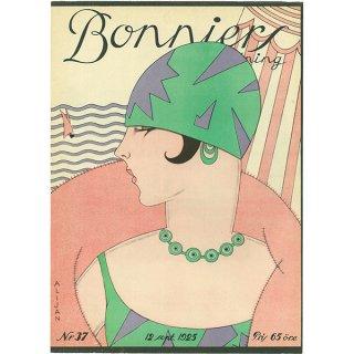 スウェーデンの古い雑誌表紙(アンティークプリント) Bonniers 1925-9-12 Nr37 039