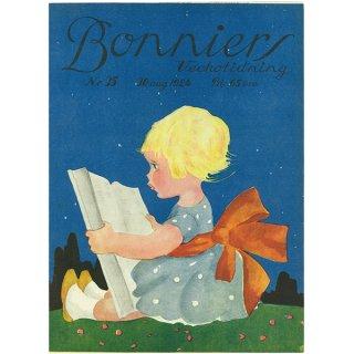 スウェーデンの古い雑誌表紙(アンティークプリント) Bonniers 1924-8-30 Nr35 042