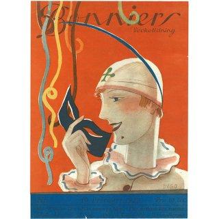 スウェーデンの古い雑誌表紙 Bonniers 1929-2-10 Nr7 050(アンティークプリント)