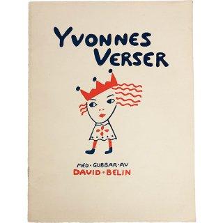 スウェーデンの古い絵本(ヴィンテージ)「Yvonnes Verser」010