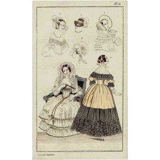 ファッションプレート 1830年代スウェーデン Pl.16 019(アンティークプリント)