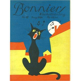 スウェーデンの古い雑誌表紙 Bonniers 1924-8-9 Nr32 060(ヴィンテージプリント)