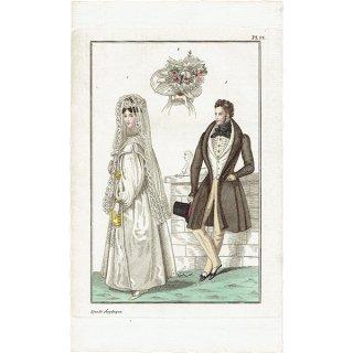 ファッションプレート 1830年代スウェーデン Pl.27 026(アンティークプリント)