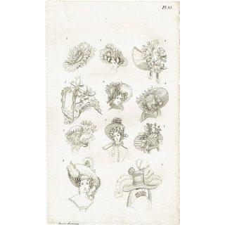 ファッションプレート 1830年代スウェーデン Pl.23 030(アンティークプリント)