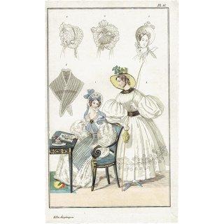 ファッションプレート 1840年代スウェーデン Pl.36 045(アンティークプリント)