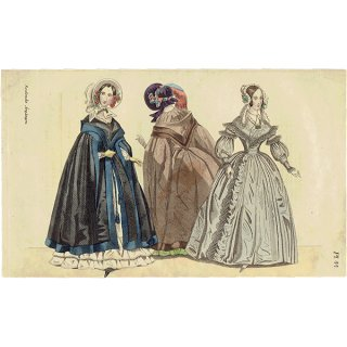 ファッションプレート 1840年代スウェーデン Pl.44 046(アンティークプリント)