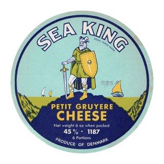 デンマークのヴィンテージチーズラベル(SEA KING) 008