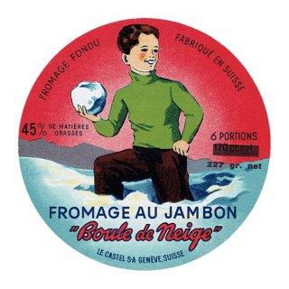スイスのヴィンテージチーズラベル(Boule de Neige) 009
