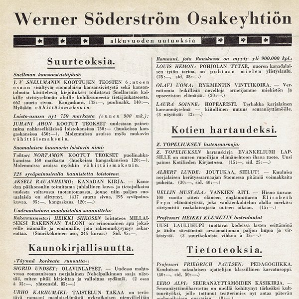 フィンランドのヴィンテージ雑誌「KOTILIESI」よりLITTOINEN  0098