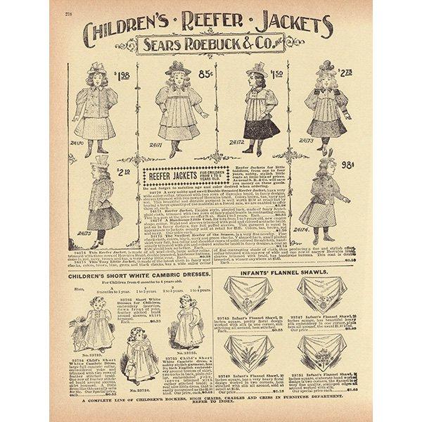 シアーズ・ローバック通販カタログより 1897年スタイルファッション 4set(1968年)sr001