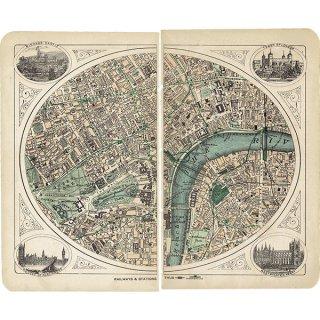 ロンドン 鉄道アンティークマップ 地図014