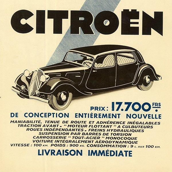 Citroën(シトロエン)クラシックカーのヴィンテージ広告 0027