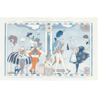 ジョルジュ・バルビエ(George Barbier)フランスの雑誌挿絵 〜LA VIE PARISIENNE〜より 0110
