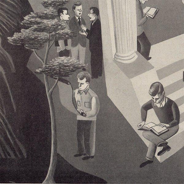 アメリカのヴィンテージ雑誌より挿絵ページ  006