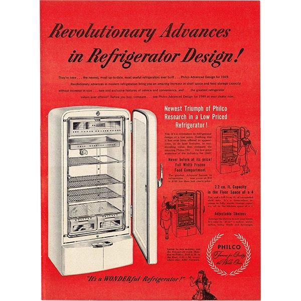 アメリカのヴィンテージ広告〜PHILCO〜冷蔵庫広告  008