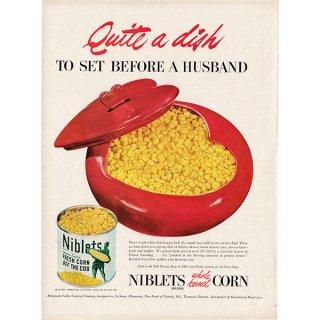 アメリカのヴィンテージ広告〜Niblets Corn〜コーンの広告  009