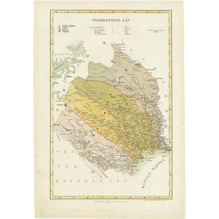 スウェーデンのアンティークマップ(古地図)ノールボッテン(Norrbottens län)017