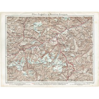 スイスのアンティークマップ(ドイツ語の古地図)021