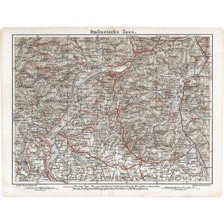 スイスのアンティークマップ マッジョーレ湖周辺(ドイツ語の古地図)024