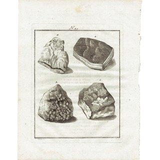 18世紀アンティークプリント 鉱物、宝石、岩、石、鉱物学 0030