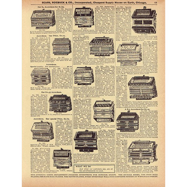 シアーズ・ローバック通販カタログより楽器 ハーモニカ(1968年)sr018